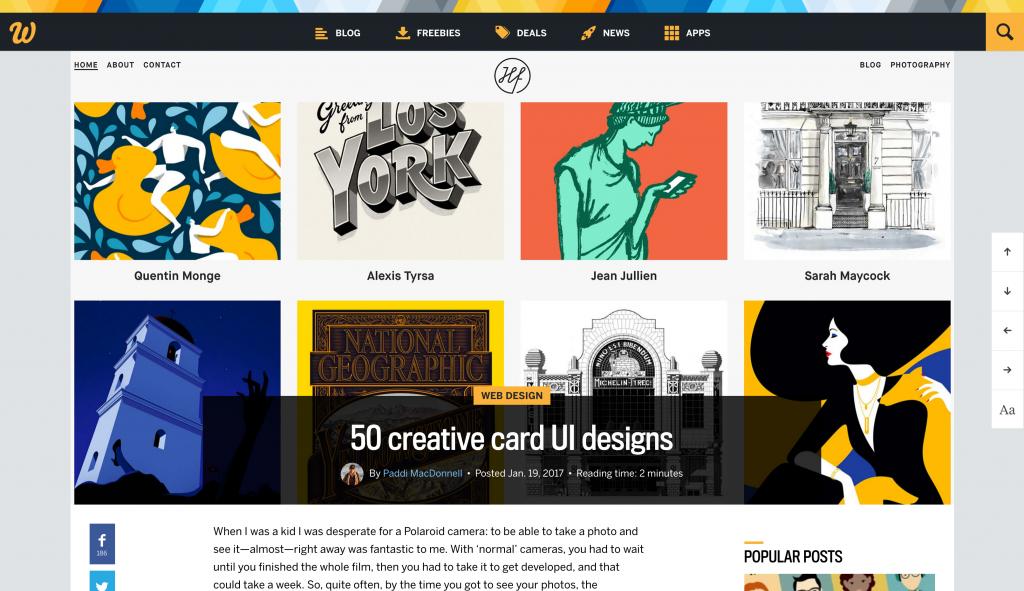 50 card ui designs