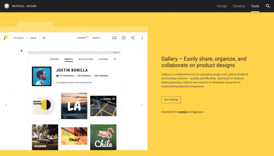 sketchとも連携 googleが提供する gallery とは web design trends